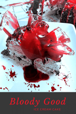 ice cream cake, halloween, halloween cake, bloody cake, Bloody Good Ice Cream Cake, blood cake, halloween cake ideas, halloween cakes ideas diy, halloween cake decorating, halloween cake toppers