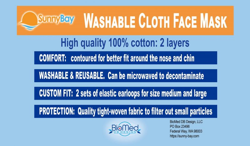 Sunny Bay Cloth Face Masks Giveaway (5 Winners _ Ends 10_31) @SunshinePillows