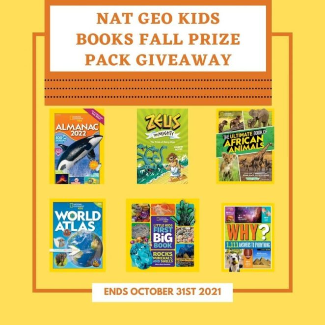 Nat Geo Kids Books Fall Prize Pack Giveaway