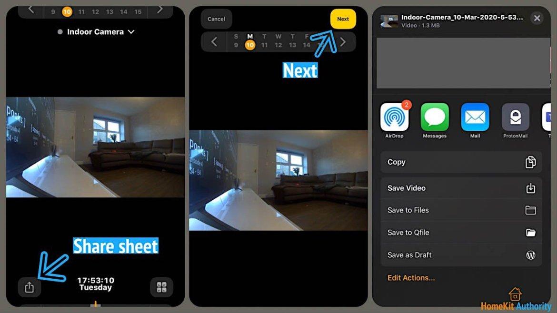 HomeKit Secure Video share video