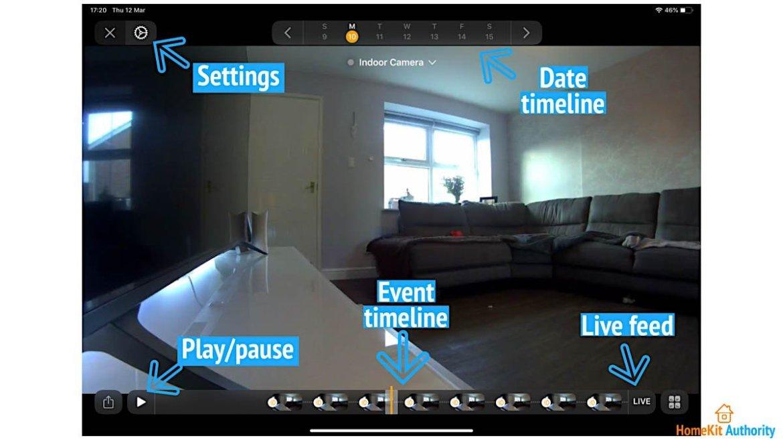 How to use HomeKit Secure Video timeline