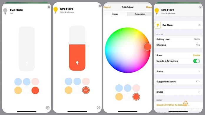 Eve Flare HomeKit app