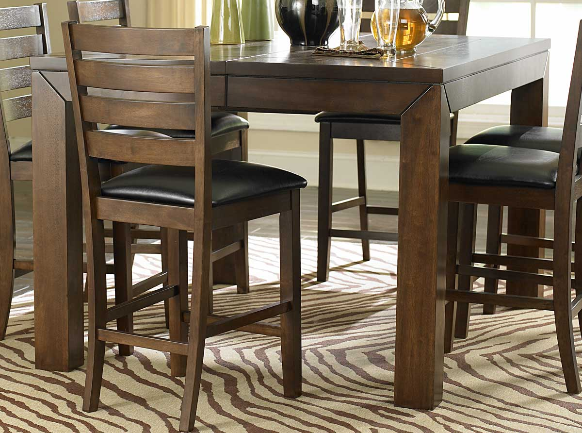 Homelegance Eagleville Counter Height Table Acacia 5346