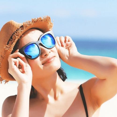Pode usar as lentes de contato no sol