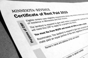 1/31/14 Deadline for CRP form (for your Renters Credit refund ...