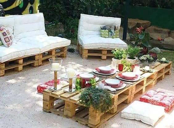 salon de jardin en palette 21 idees