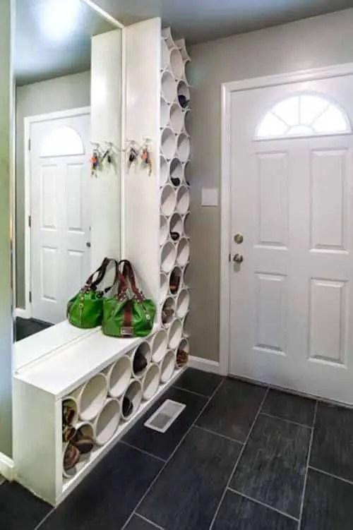 fabriquez vous meme un meuble sur mesure dans le couloir pour une decoration fonctionnelle