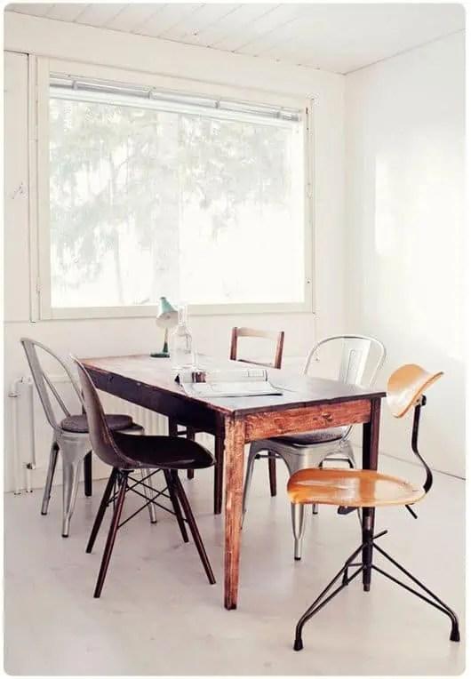 melange des chaises styles couleurs materiaux et modeles pour une deco tendance