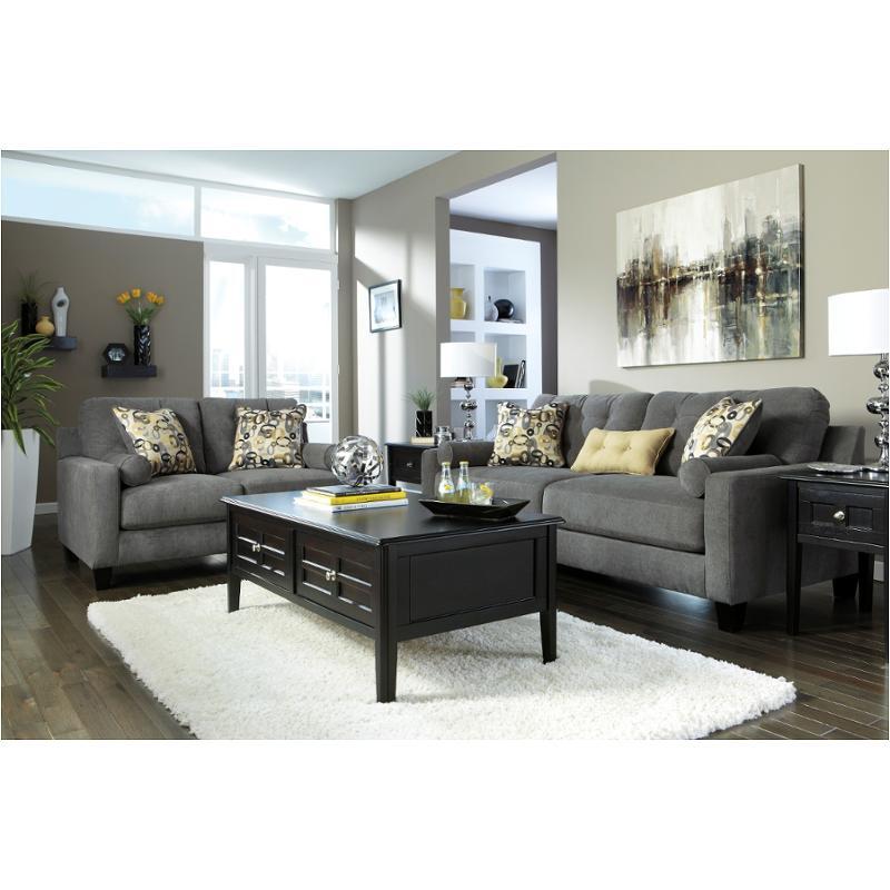 9700338 Ashley Furniture Mallbern Charcoal Living Room Sofa