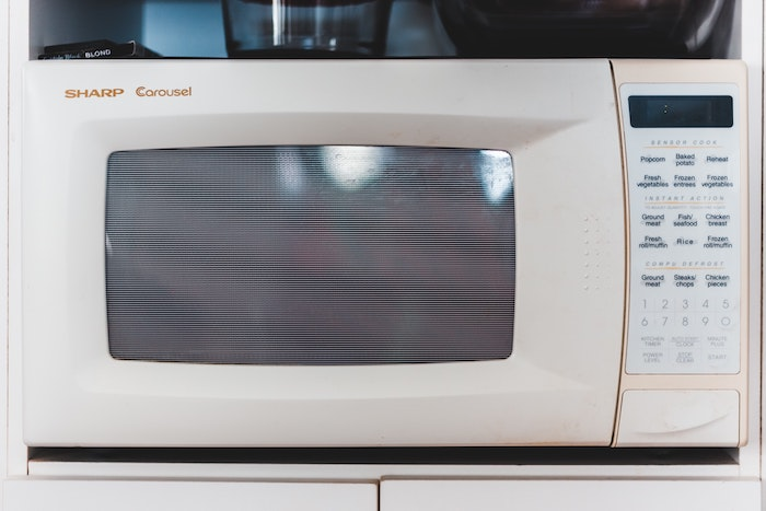 a microwave without the glass plate