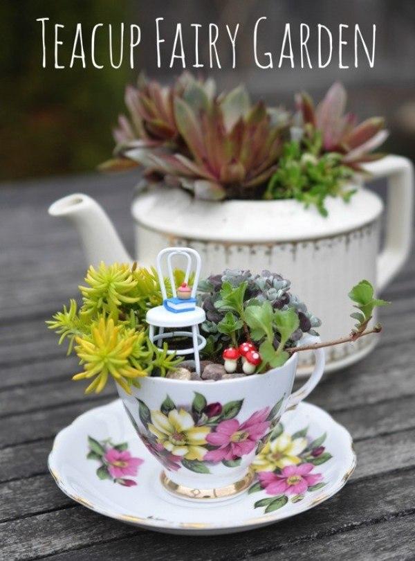 DIY Teacup Fairy Garden
