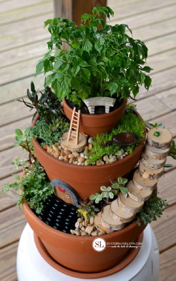 Diy Flower Pot Miniature Fairy Garden