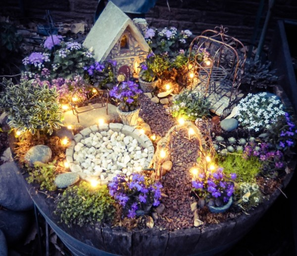 Magical Fairy Garden with Lights