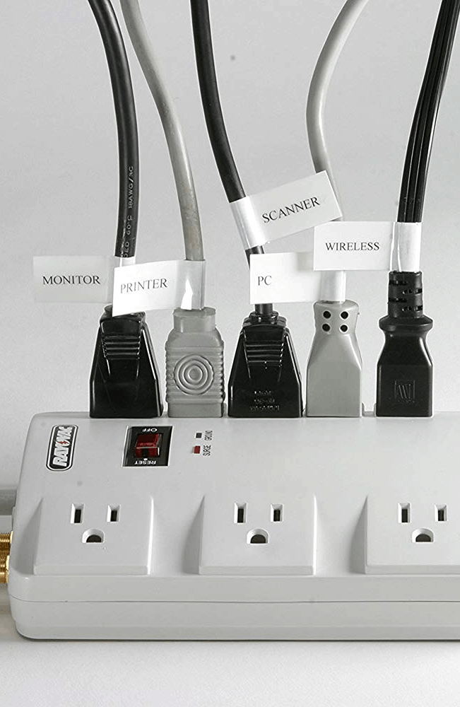 Cable Organization with Labels