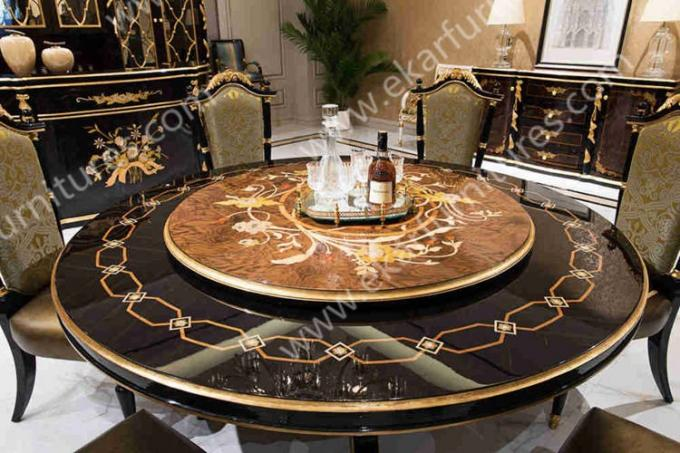 Antique Wooden Round Rotating Dining Table TN 029N