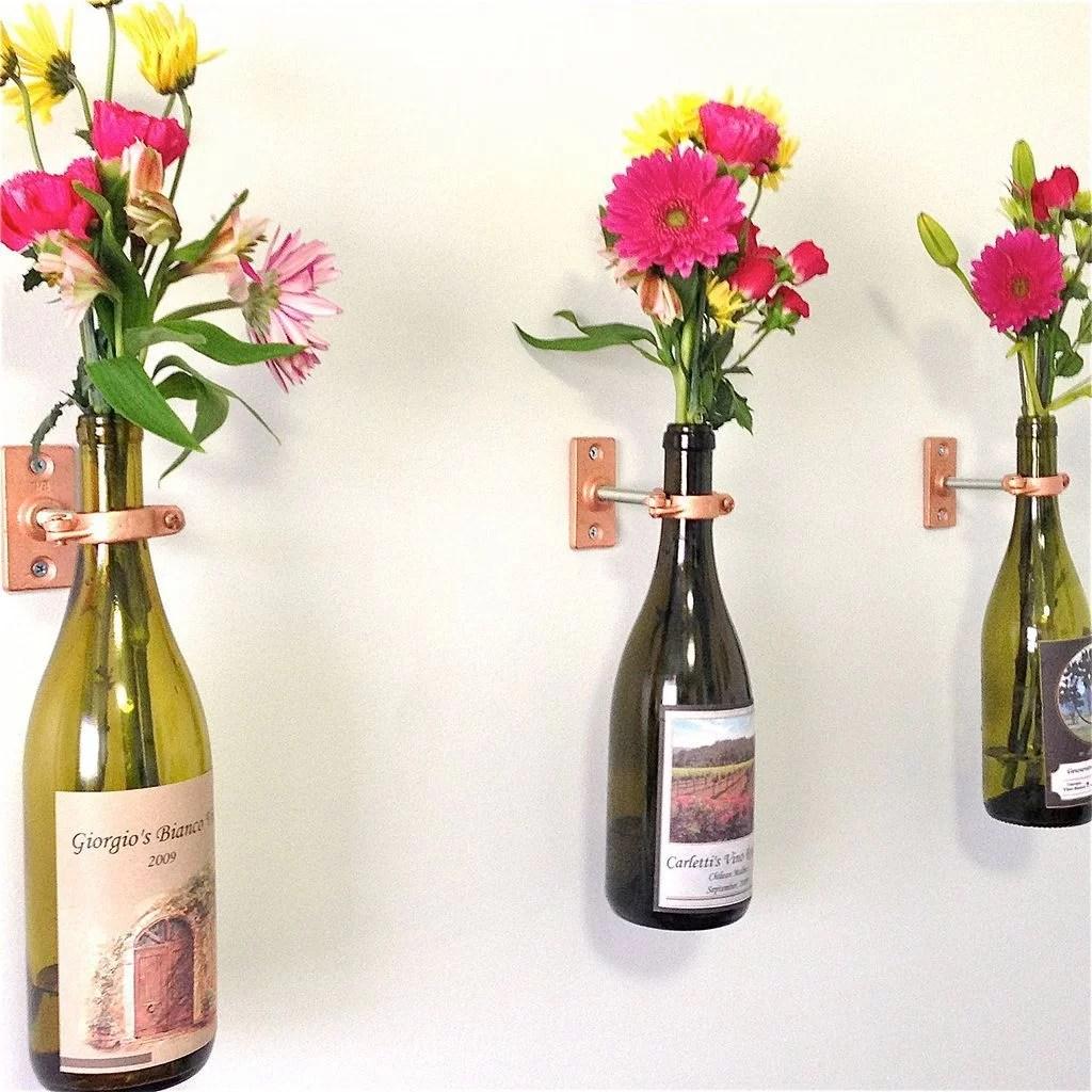 HomelySmart | 10 Wonderful DIY Hanging Wall Vases ...