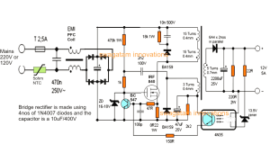 12V, 5 Amp SMPS Battery Charger Circuit | Homemade Circuit