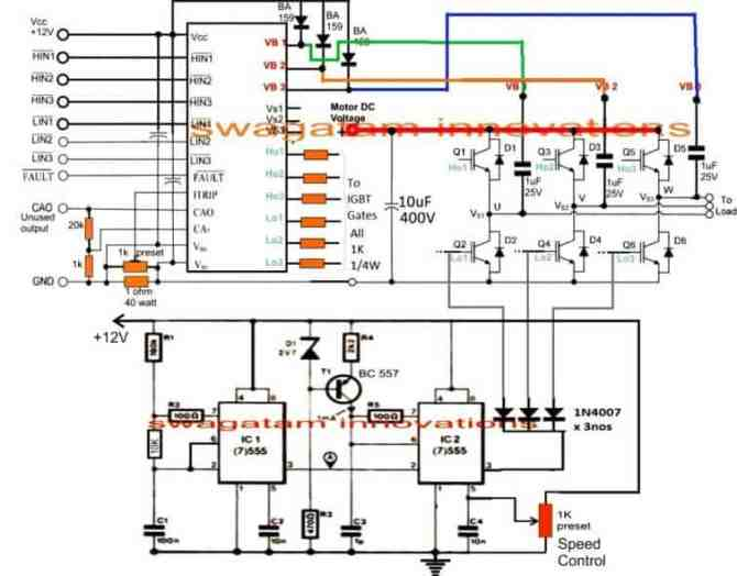 how to make a 3 phase vfd circuit  homemade circuit projects