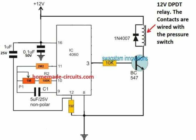 pressure switch water pump controller circuit  homemade