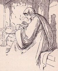 Illustration of Madonna and Child