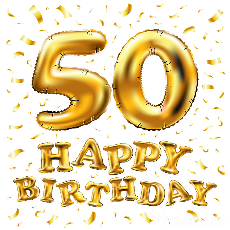 Happy 50th Birthday Wishes for Friends and Family