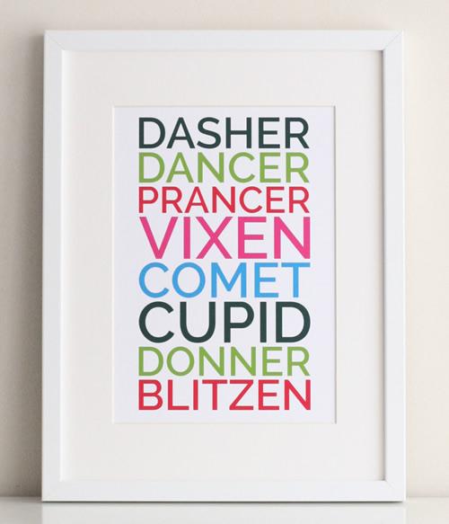 Free Printable Christmas Word Art Posters
