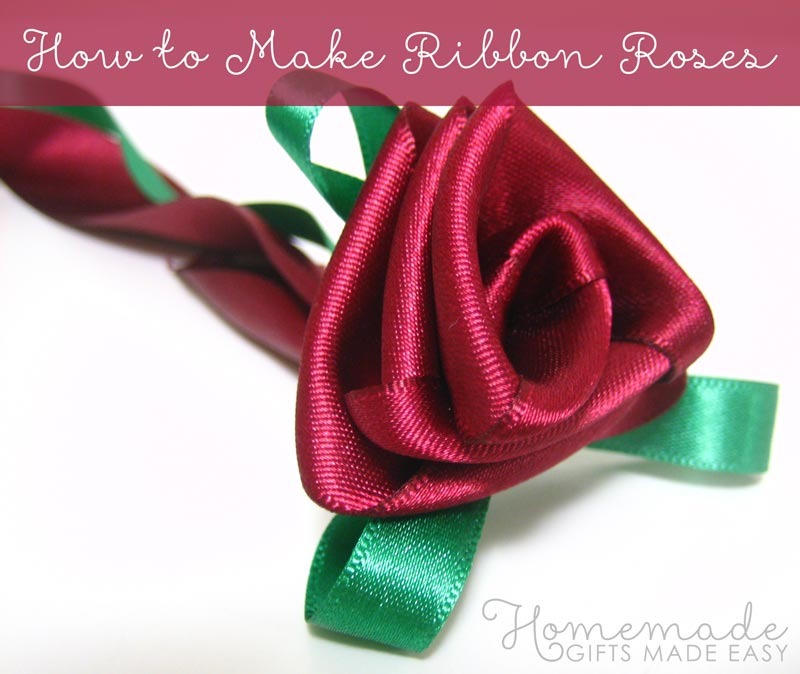 How to Make Ribbon Flowers   Roses   Video Tutorial How to Make Ribbon Flowers  Roses  the easy way