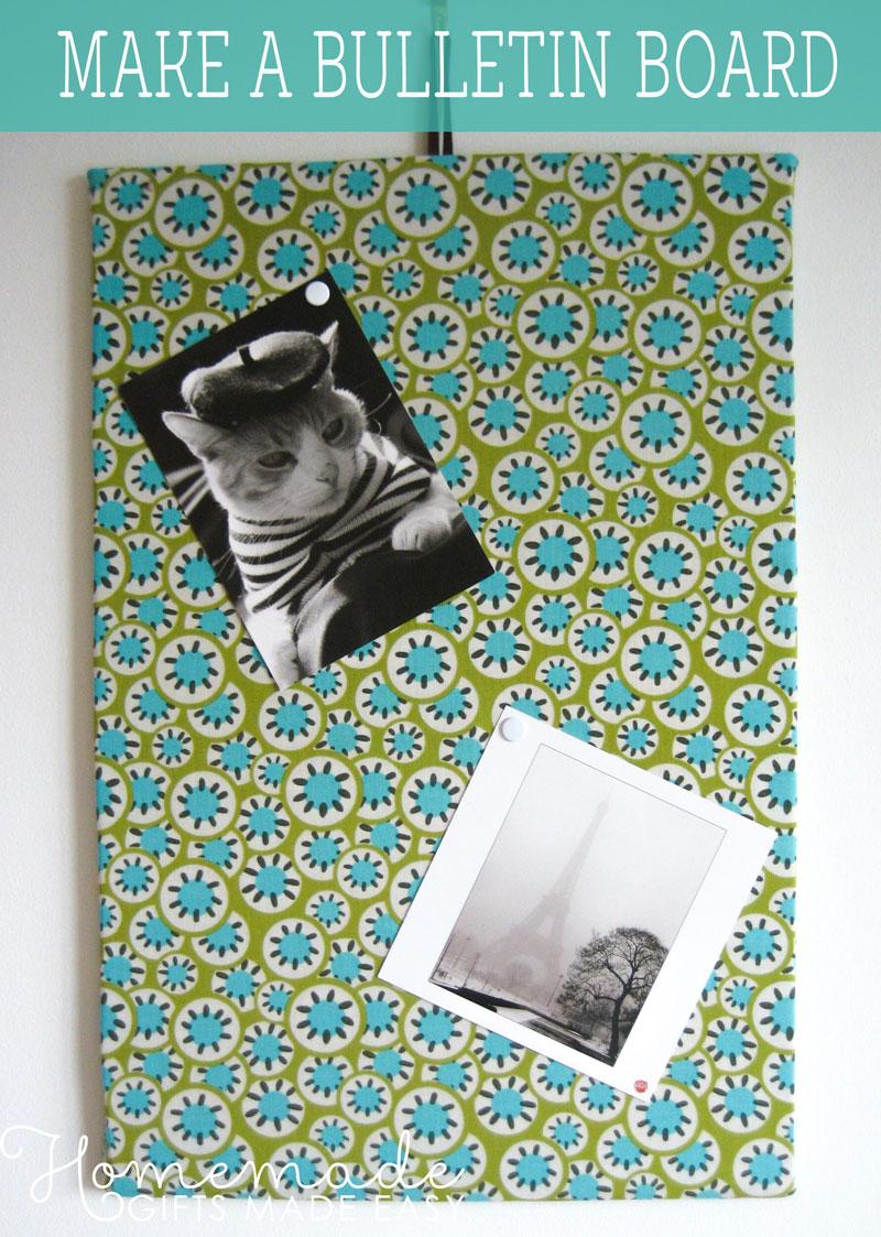 Make A Bulletin Board Easy Fabric Memo Board Instructions