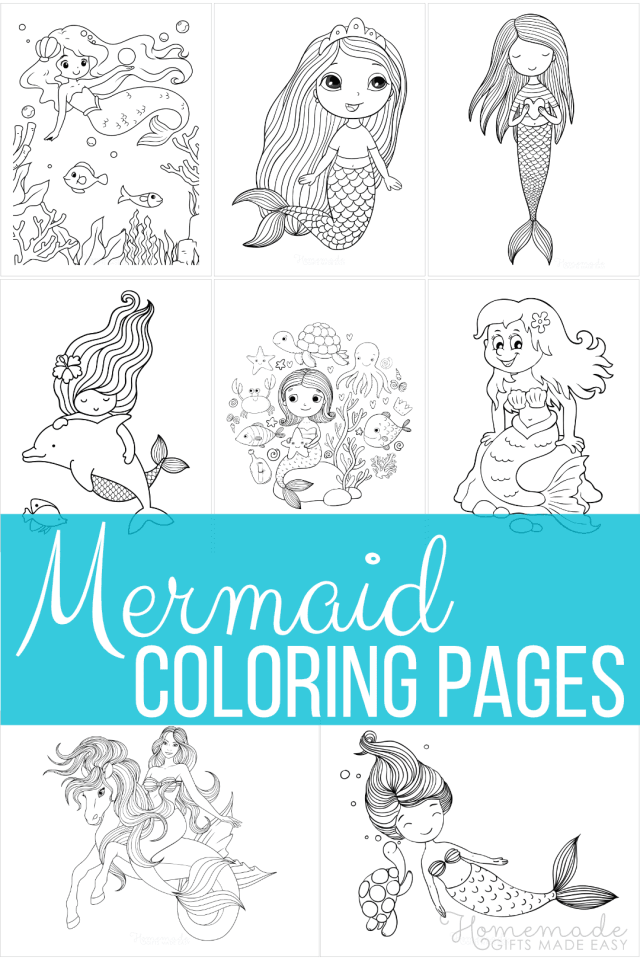 29 Mermaid Coloring Pages  Free Printable PDFs