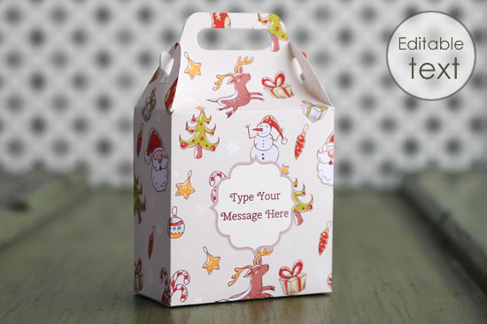 Printable Gift Bag Templates Cute Bags With Handles