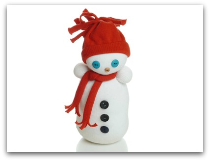 Make A Sock Snowman Easy Christmas Sock Doll Craft