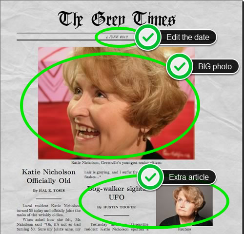Funny Newspaper Generator With Pictures And Multiple Articles