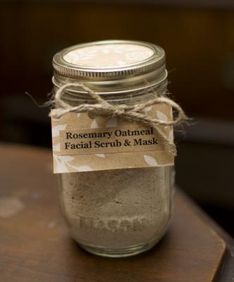 Rosemary Oatmeal Facial Scrub Amp Mask In A Mason Jar