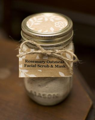 Rosemary Oatmeal Facial Scrub Amp Mask In A Mason Jar