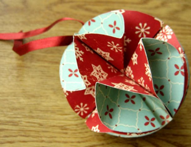 simple homemade christmas ornaments bauble step 8
