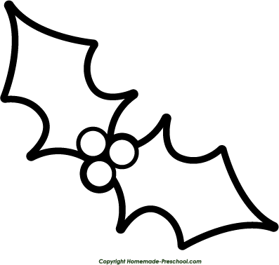 mistletoe colouring pages page 2