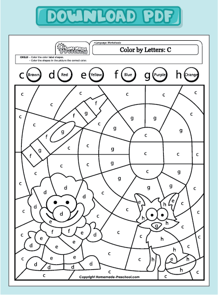common worksheets letter c worksheets for preschool preschool and kindergarten worksheets. Black Bedroom Furniture Sets. Home Design Ideas