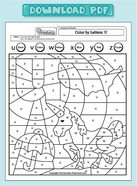 coloring pages for preschoolers pdf - hidden letter u worksheets for preschool