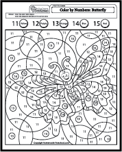 color by number butterfly coloring pages cooloring com