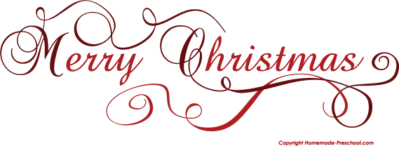Free Merry Christmas Clipart (569 x 208 Pixel)