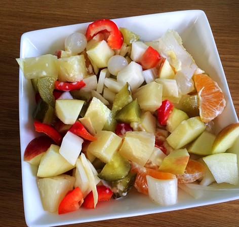 ❤️ Witlof salade met fruit & rauwkost