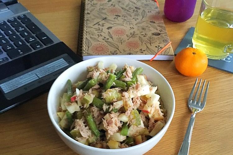 Tonijn appel sperziebonen salade