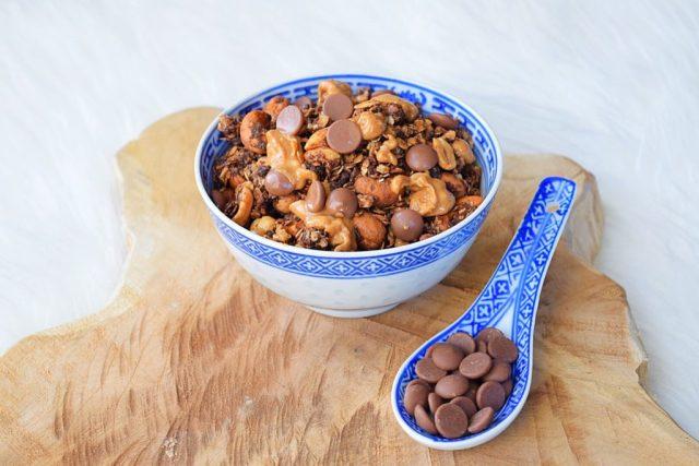 chocolade pindakaas granola