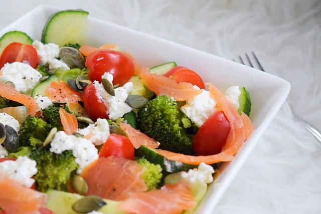broccoli zalm lunchsalade