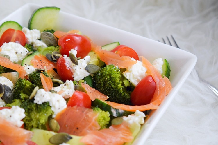 broccoli zalm lunchsalade