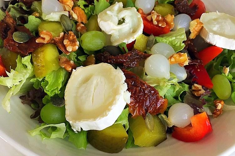 airfryer woensdag geitenkaas lunch salade