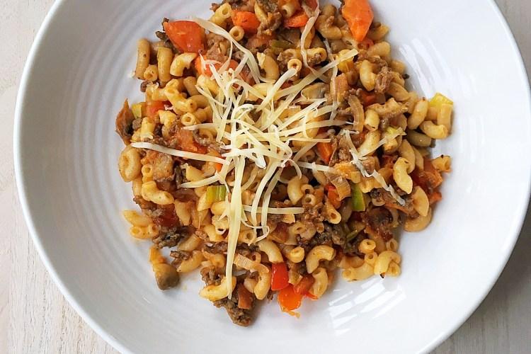 Macaroni met rundergehakt