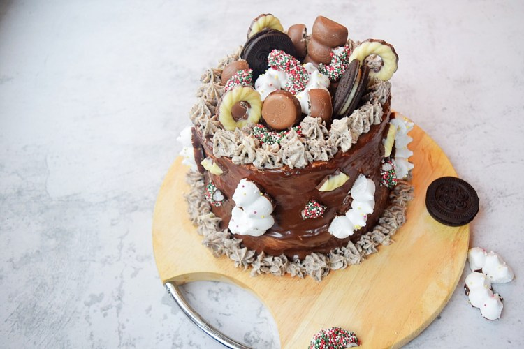 Chocolade oreo taart