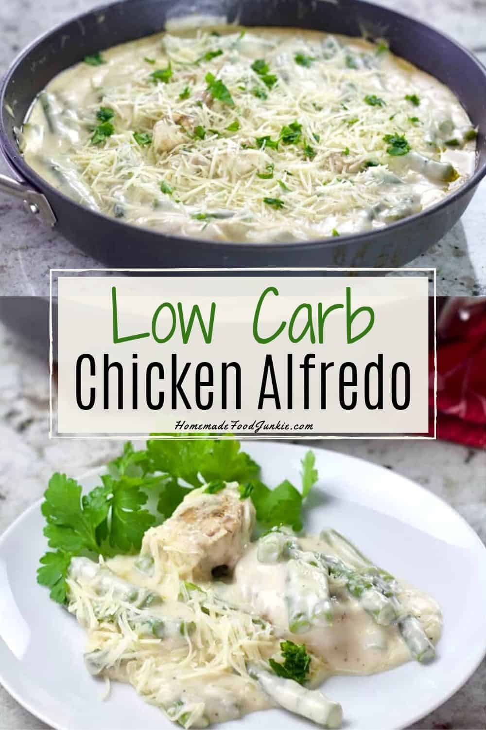 Low Carb Chicken Alfredo-pin image