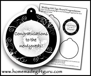 DIY Printable Wedding Gift Tags
